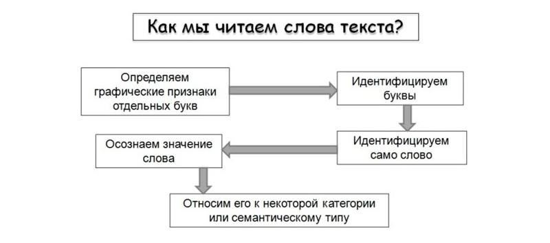 Схема восприятия текста