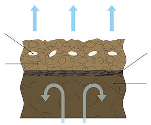 ушенная плугом структура почвы